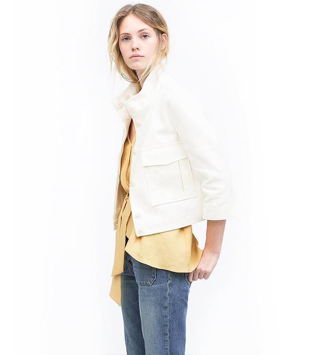 Zara Jacket With Large Patch Pockets