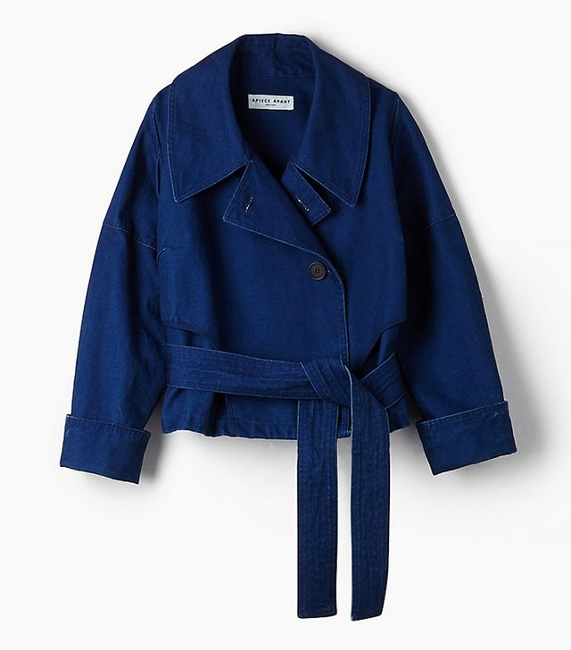 Apiece Apart Aletha Cropped Trench Coat