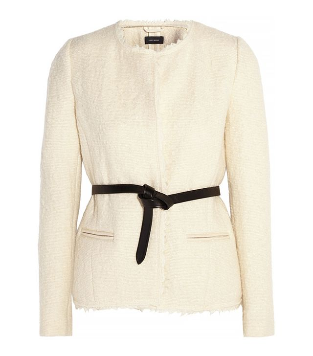 Isabel Marant Satchell Belted Wool-Blend Bouclé Jacket