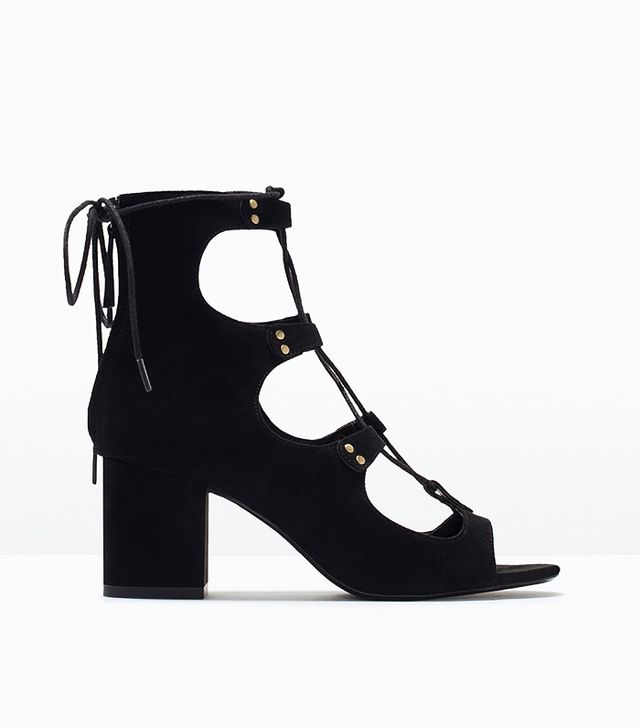 Zara Lace-Up Block-Heeled Sandals