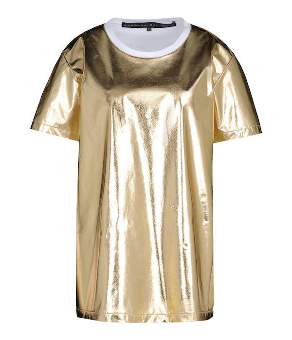 Barbara Bui Gold Short Sleeve T-Shirt