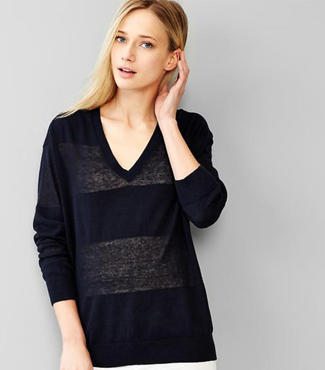 Gap Shadow-Stripe Sweater