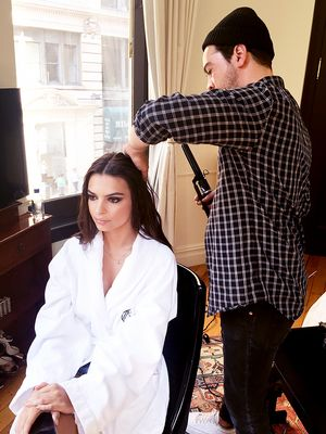 Pre-Met Prep: Behind the Scenes With Emily Ratajkowski's Hairstylist