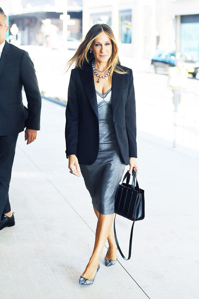 Sarah Jessica Parker dress and blazer