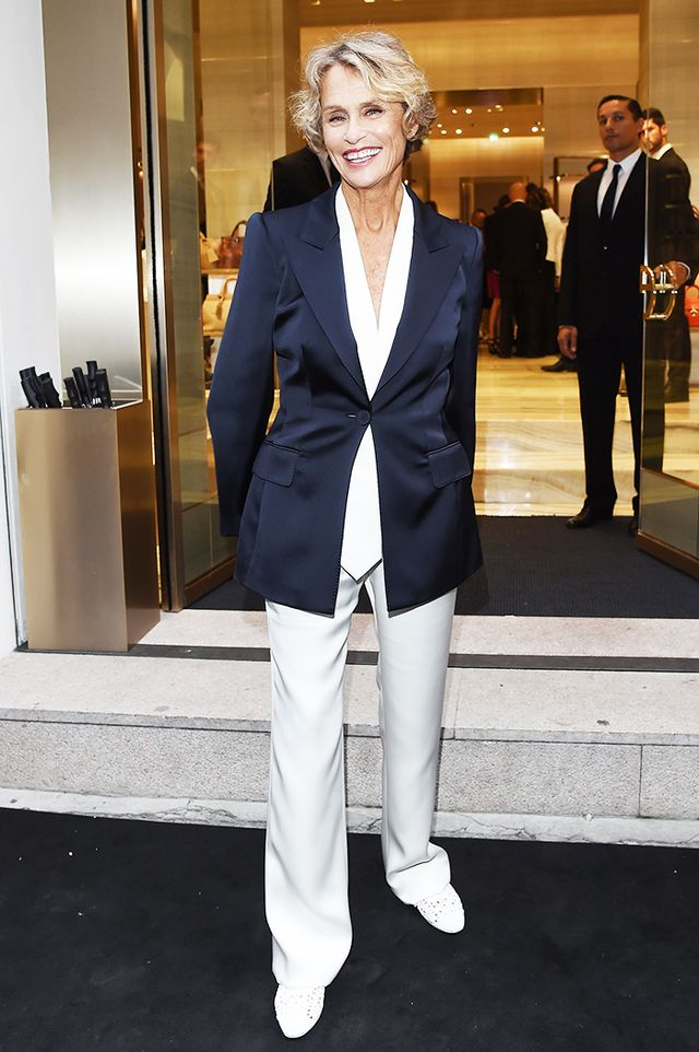 Lauren Hutton suit