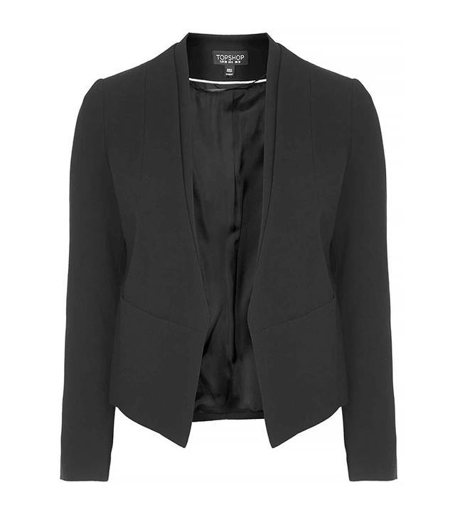 Topshop Double Collar Blazer