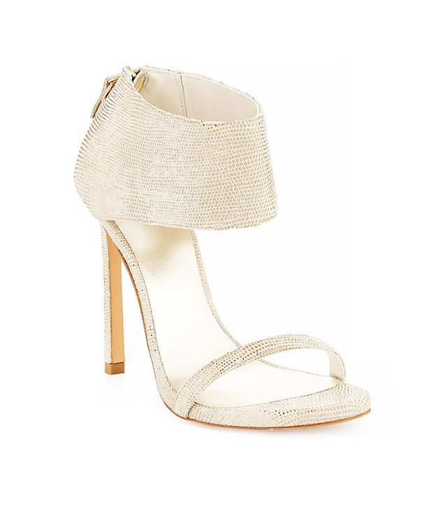 Stuart Weitzman Showgirl Ankle-Cuff Sandal in Cava