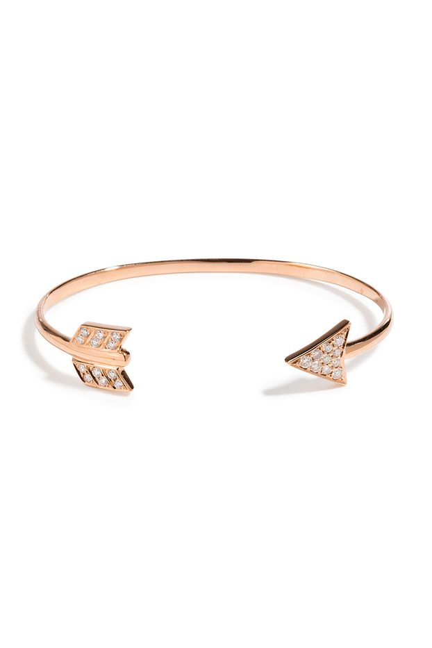Anita Ko 18kt Rose Gold Arrow Cuff With Diamonds