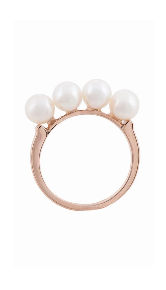 Anita Ko Multi Pearl Ring