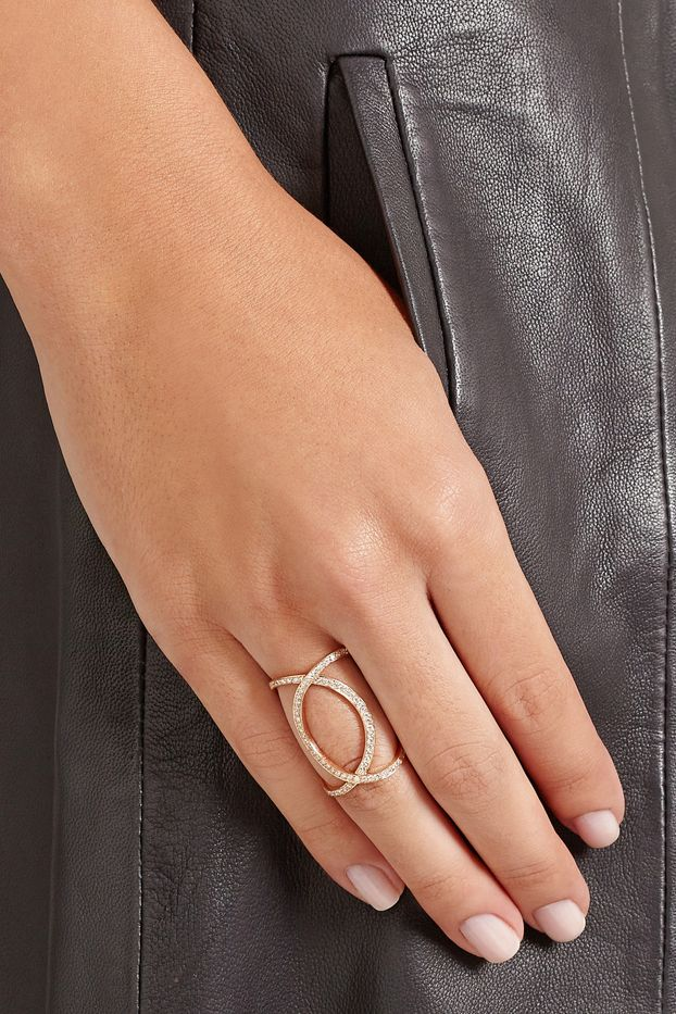 Anita Ko Double Infinity Rose Gold Diamond Ring