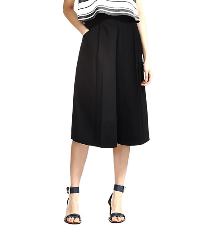 Whistles Crepe Culottes in Black
