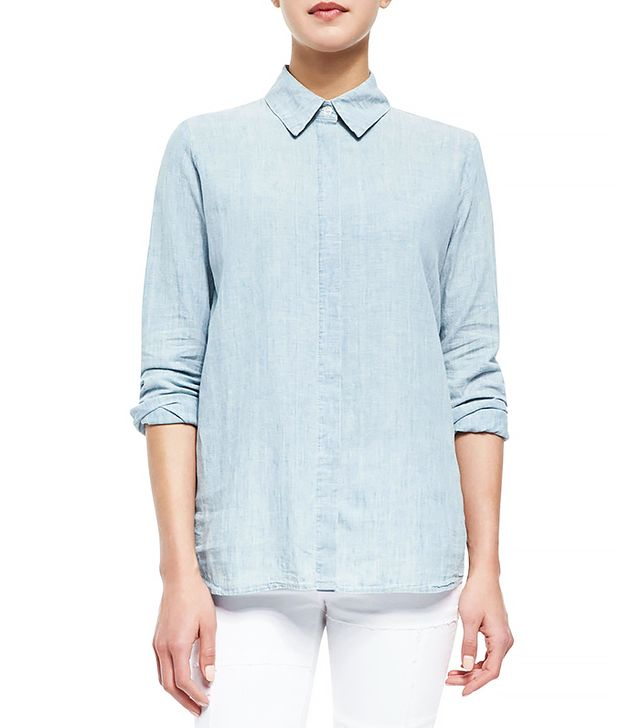 FRAME Le Classic Stretch-Cotton Shirt