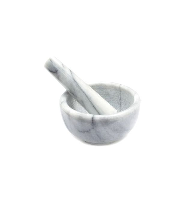 Sur la Table White Marble Mortar & Pestle