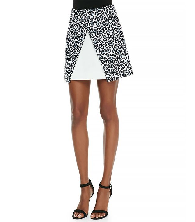 Cameo Move On Jersey Leopard-Print Skirt