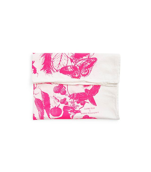 Lucky Fish Neon Pink Tea Towel