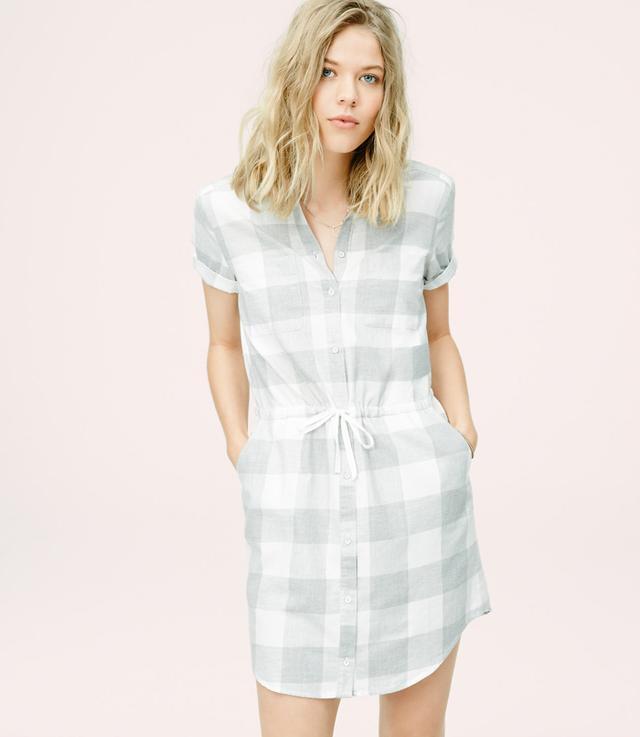 Lou & Grey Checked Shirtdress