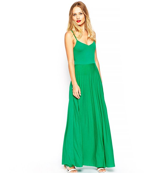 ASOS Pleated Cami Maxi Dress