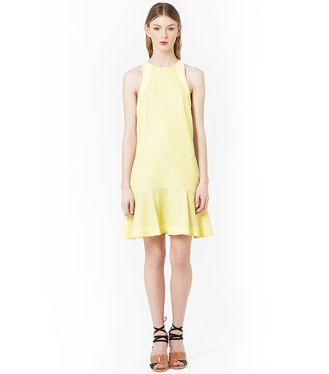 Topshop Unique Textured Flippy Dress