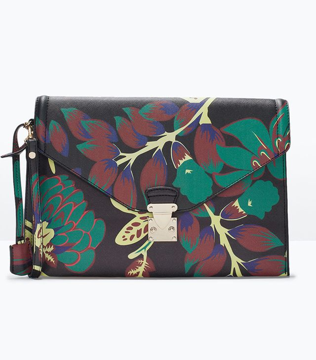 Zara Novelty Printed Clutch