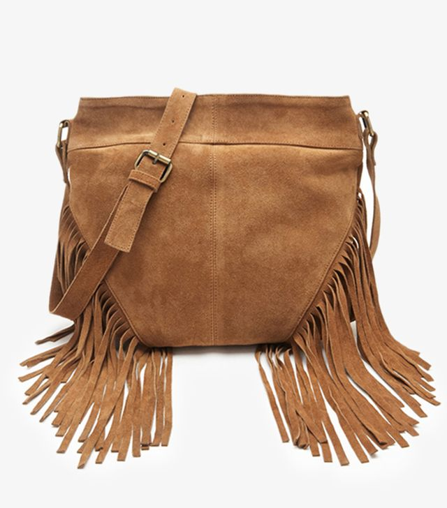 Forever 21 Fringed Suede Shoulder Bag