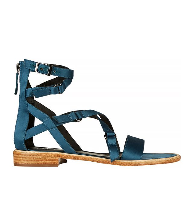 Tibi Imogen Satin Sandals