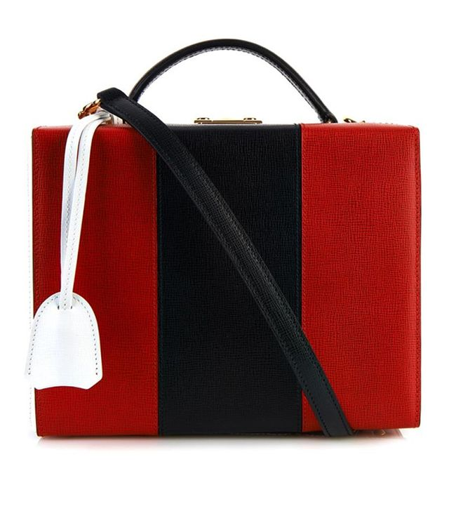Mark Cross Grace Tri-Colour Leather Box Bag