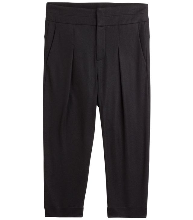 Helmut Lang Cropped Wool Trousers