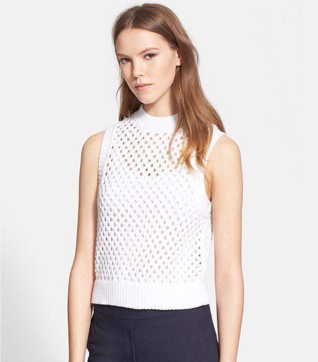 Theory Mayleen Open Knit Sleeveless Sweater