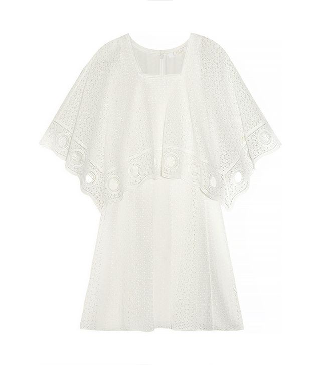 Chloé Crocheted Cotton-Blend Mini Dress