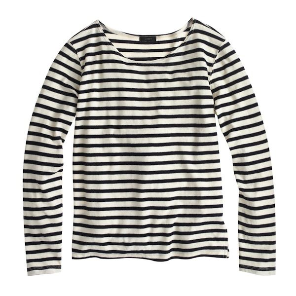 J.Crew Oversize Stripe Long-Sleeve Tee
