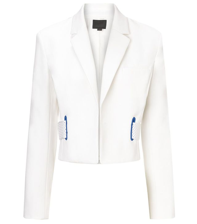 Alexander Wang Chalk Cotton Cropped Jacket