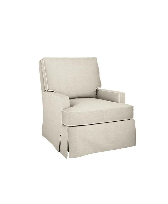 Land of Nod Mod Nod Swivel Glider and Ottoman