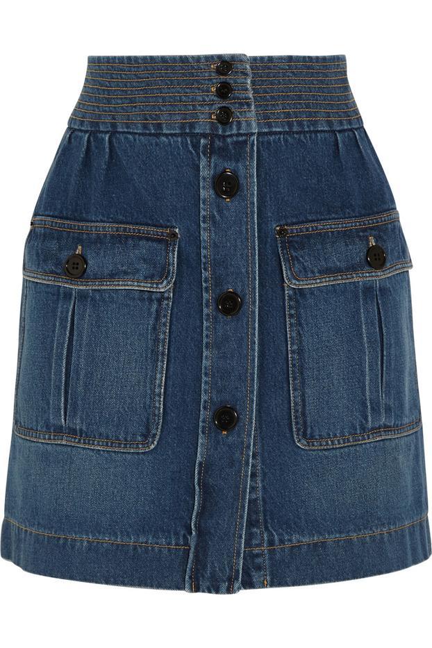 Chloé Stonewashed Denim Mini Skirt