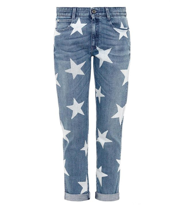 Stella McCartney Star-Print Slim Boyfriend Jeans