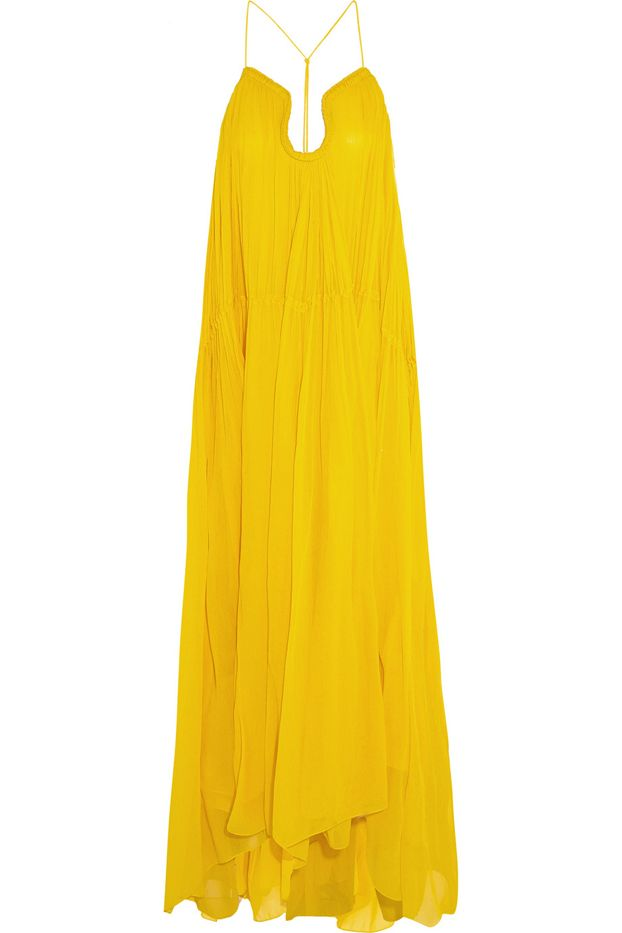 Chloé Crinkled Silk-Georgette Gown