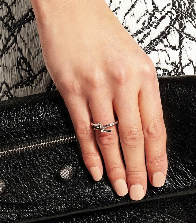 Balenciaga Palladium-Plated Ring