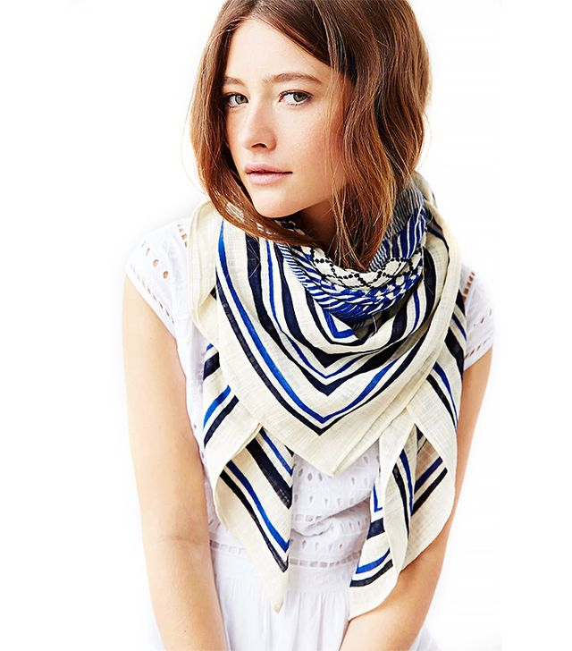 Urban Outfitters Patch Print Oversized Border Square Scarf