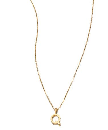 David Aubrey Small Initial Necklace