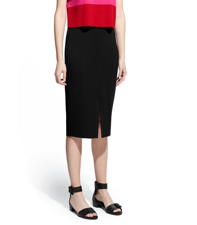 Mango Vent Pencil Skirt