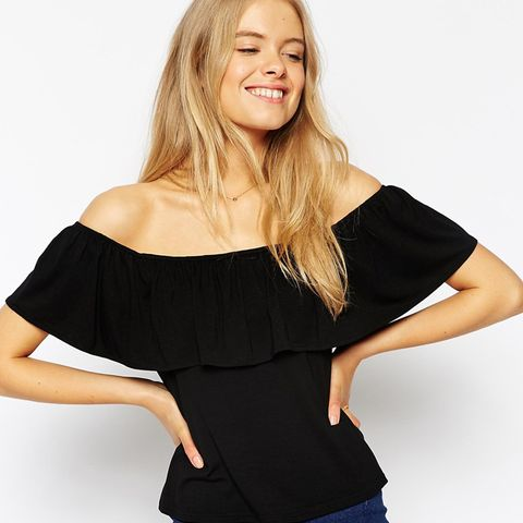 Top With Off Shoulder and Frill