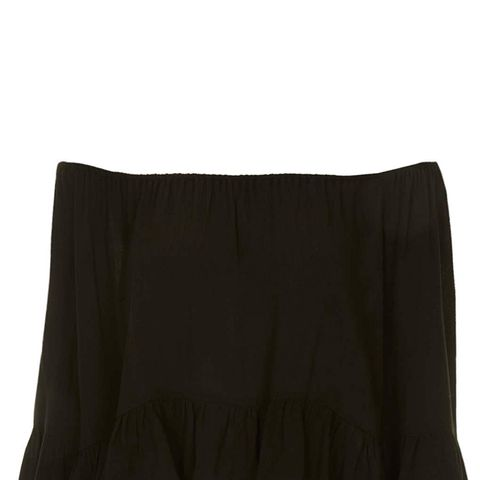 Crinkle Off Shoulder Bardot Top