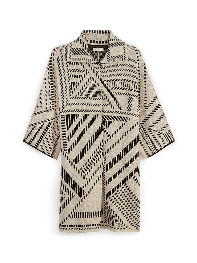 Tory Burch Jacquard Oversized Coat