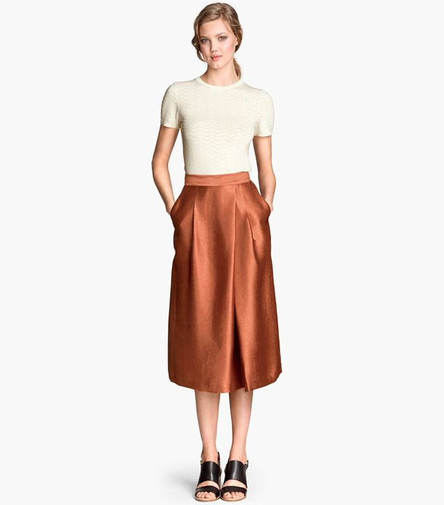 H&M Calf-Length Skirt