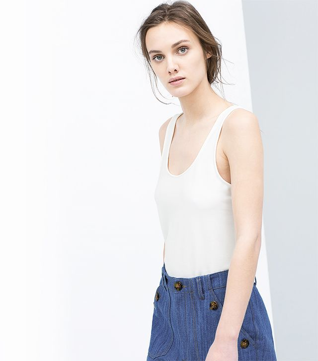 Zara Ballet Back Strappy T-Shirt
