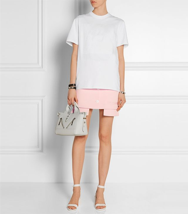 Opening Ceremony Mallory Asymmetric Twill Mini Skirt