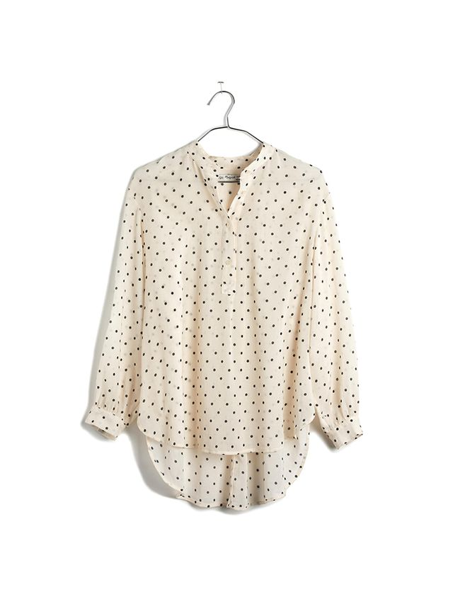 Madewell Shirred Popover Shirt