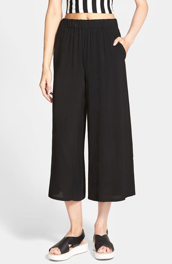 Lily White Gaucho Pants