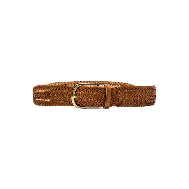 Linea Pelle Twisted Braid Vintage Belt