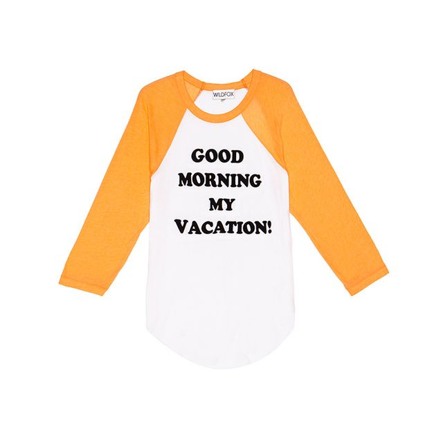 WILDFOX Couture Good Morning My Vacation Tee