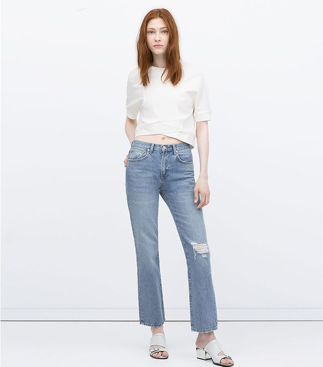 Zara Jeans With Rips